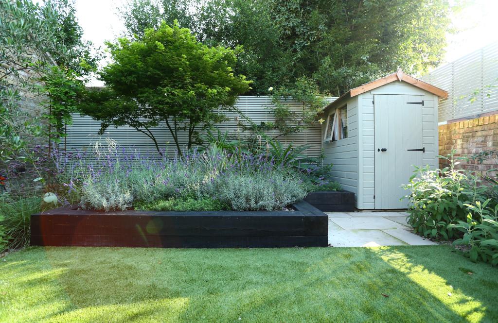 Mediterranean Garden Landscaping in Chiswick - Positive Garden