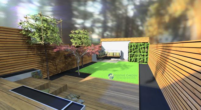 Medium size London garden design - Positive Garden Ltd