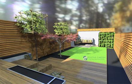 Medium size London garden design